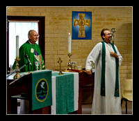 Bp Brian Farran and the Revd John Ward.